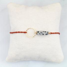 Blossom Dalmatian Jasper | Dalmatier Jaspis Cirkel Armbandje