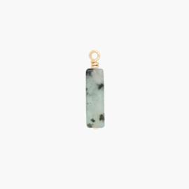 Sesam Jaspis Tube – Hangertje | 14K Gold Filled