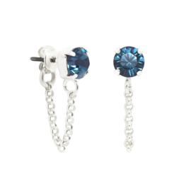 Crystal Chain Studs   Swarovski Kristal Oorstekers