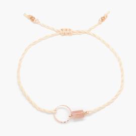 Blossom Sunstone Peach | Zonnesteen Cirkel Armbandje
