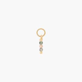 Tricolore Twisted Oorbel Hanger | 14k Gold Filled