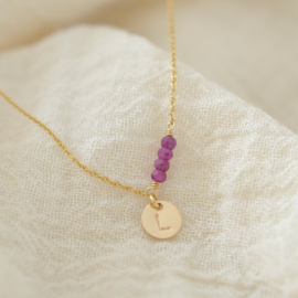 Birth Stone Initial - Divers | Ketting - 14kt Gold Filled