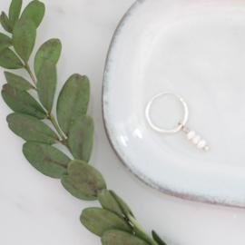 Pearl Hoops   Oorringetjes Zoetwaterparels - 925 Zilver