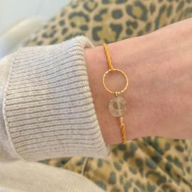 Blossom Golden Rutile Quartz | Gouden Rutielkwarts Cirkel Armbandje