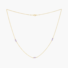 Amethist | Ketting - 14k Gold Filled