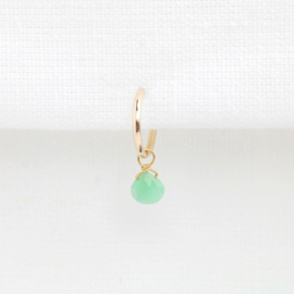Chrysopraas Hoop | Oorringetje - 14K Gold Filled