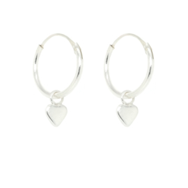 Tiny Heart Hoops | Oorringetjes Hartje - 925 Zilver