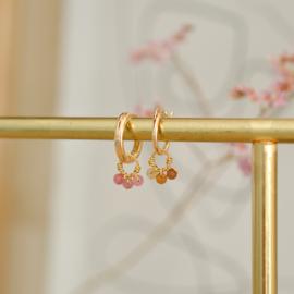 Bruine Toermalijn Oorbel Hanger | 14K Gold Filled
