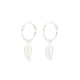 Leaf Hoops | Oorringetjes Blaadje - 925 Zilver