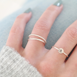 The Facet Ring | Aanschuifring - 925 Zilver