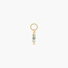 Groene Rutielkwarts Twisted Oorbel Hanger | 14k Gold Filled