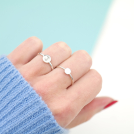 The Dot Ring | Ring - 925 Zilver
