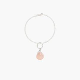 Moonstone Sparkle Hoop | Oorring Maansteen - 925 Zilver