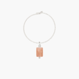 Sparkle Gem Hoop - One Piece | Oorring Edelsteen Divers - 925 Zilver