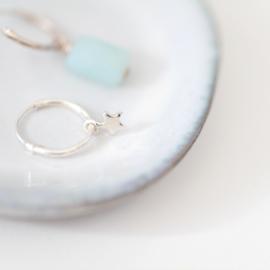 Tiny Star Hoops | Oorringetjes Sterretje - 925 Zilver