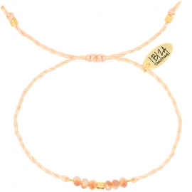 Namasté Rose Gold | Twisted Glaskralen Armbandje