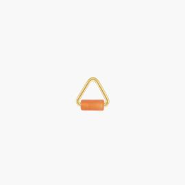 Oranje Aventurijn Triangle Oorbel Hanger | 14K Gold Filled