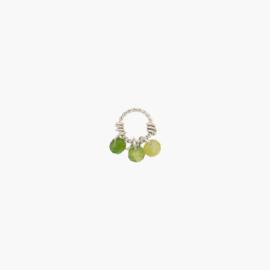 Groene Toermalijn Oorbel Hanger | 925 Zilver