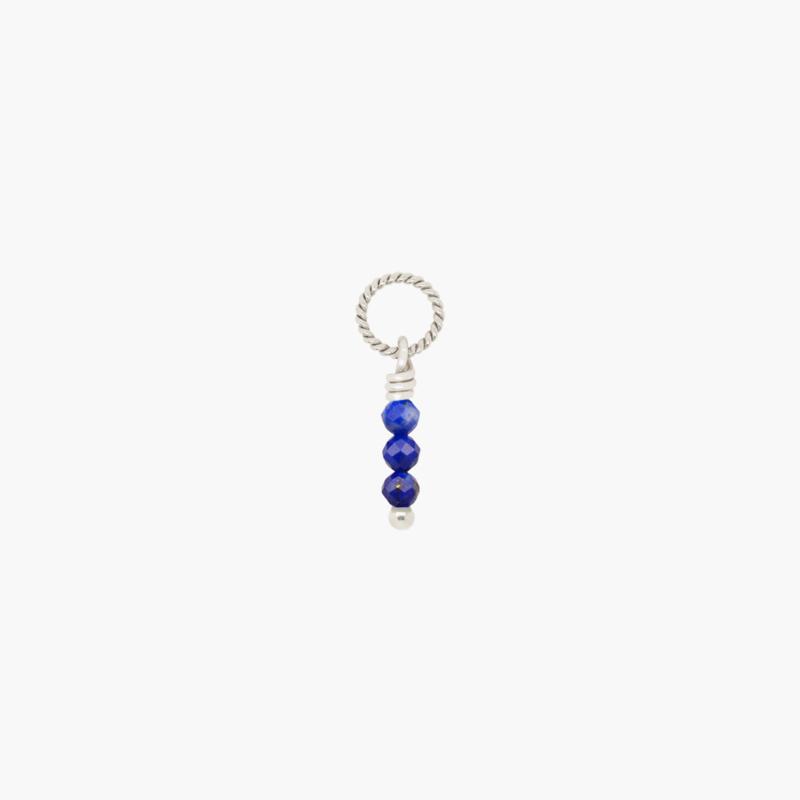 Lapis Lazuli Twisted Hanger | 925 Zilver