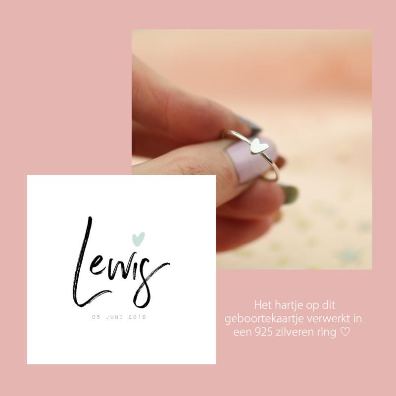 Custom Made Ring | Met Eigen Hartje - 925 Zilver