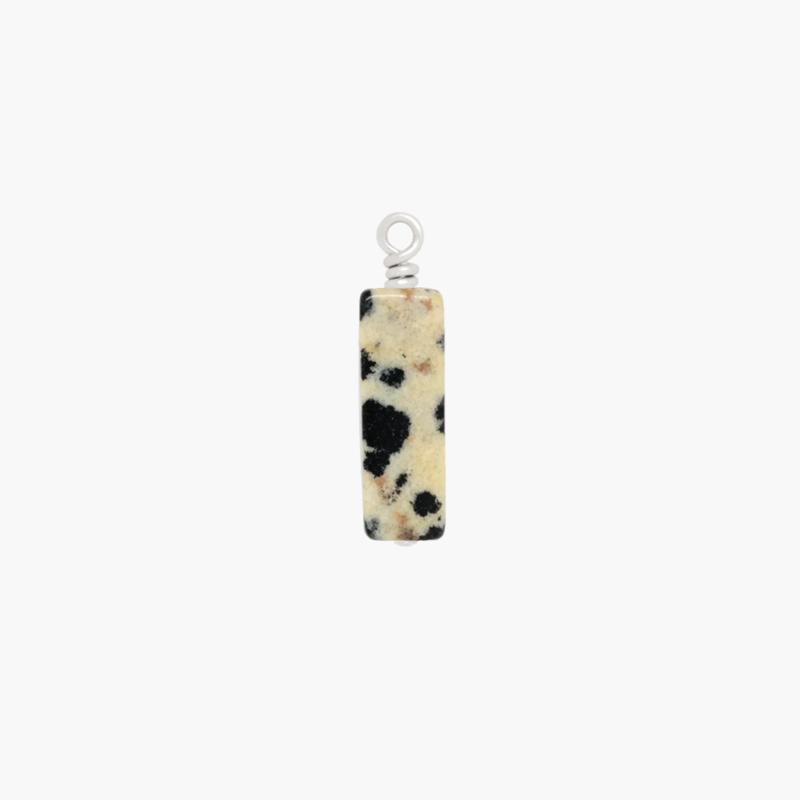 Dalmatiër Jaspis Tube Bedeltje | 925 Zilver