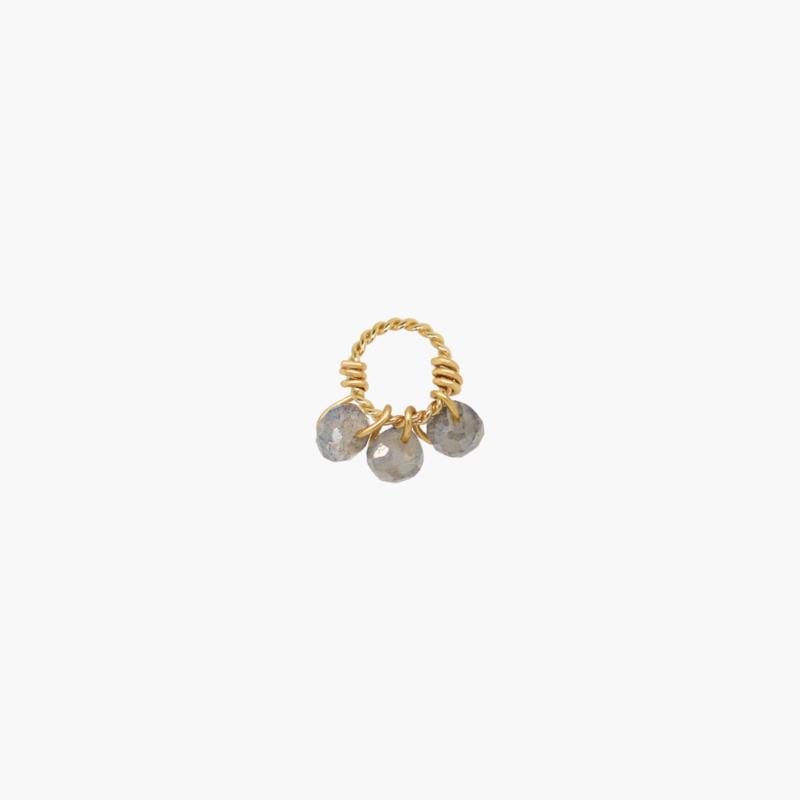 Labradoriet Twisted Oorbel Hanger | 14K Gold Filled