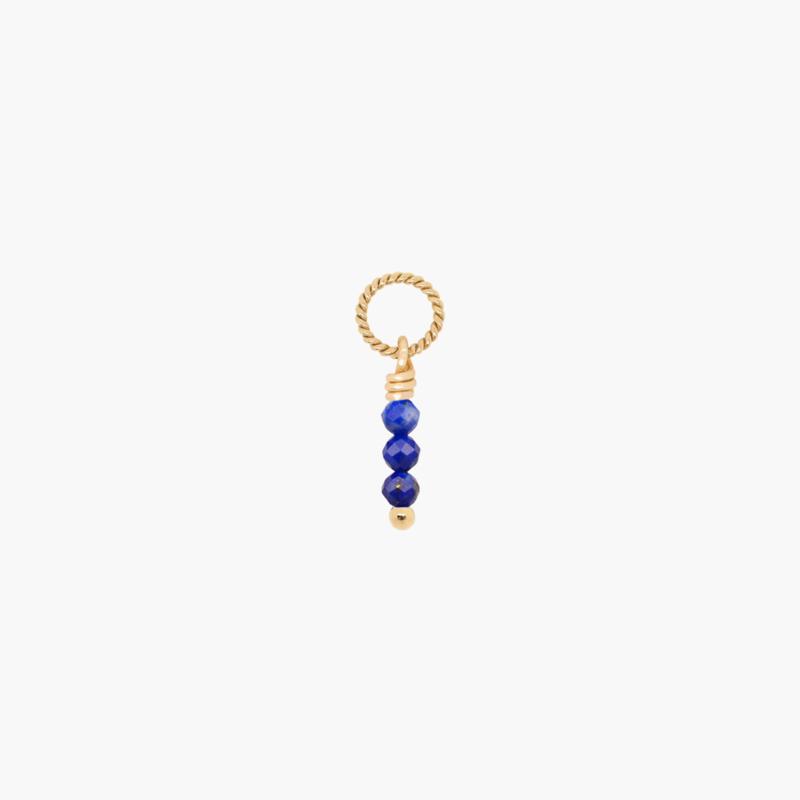 Lapis Lazuli Twisted Hanger | 14K Gold Filled