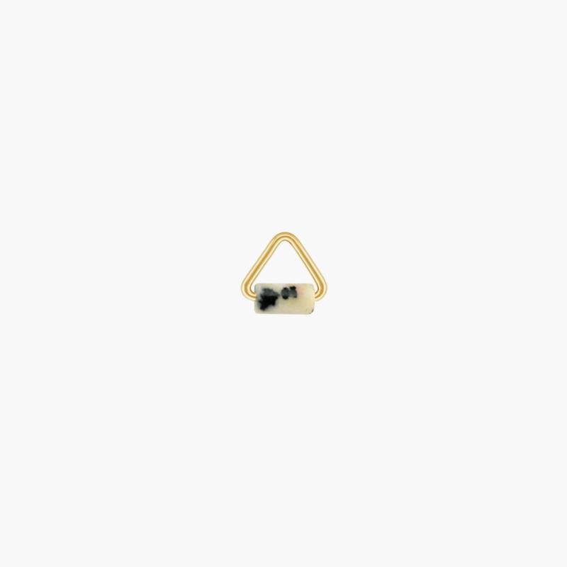 Dalmatiër Jaspis Triangle Oorbel Hangertje | 14K Gold Filled