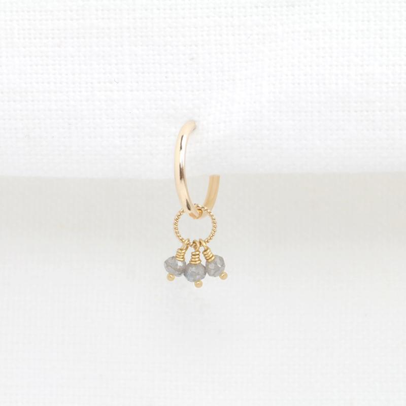 Labradoriet Hoop | Oorbel - 14K Gold Filled