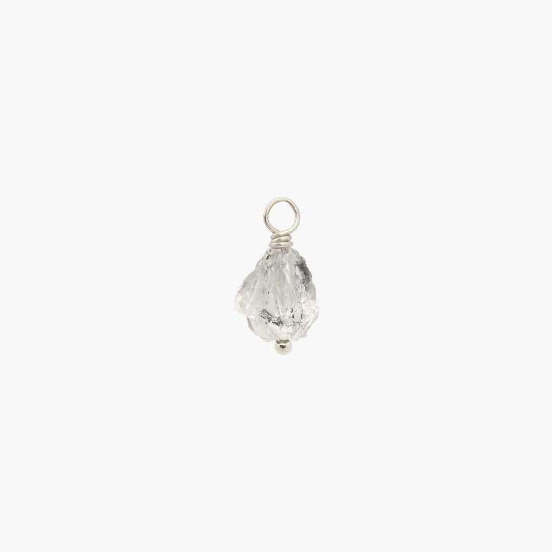 Herkimer Diamant Oorbel Hanger | 925 Zilver