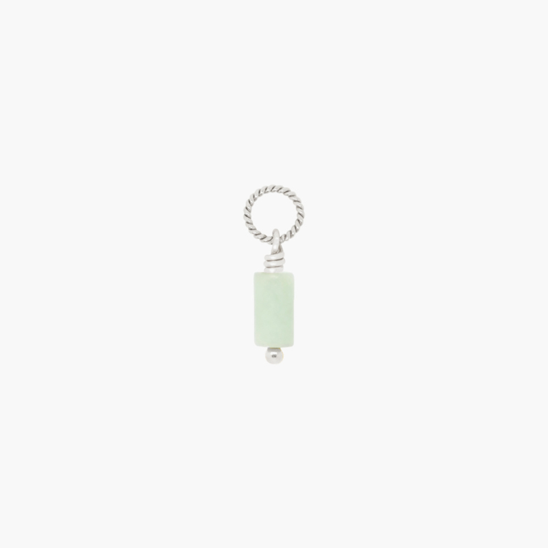 Jade Twisted Hanger | 925 Zilver