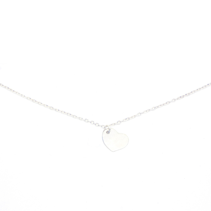 Follow Your Heart | Ketting Bedel Hartje - 925 Zilver