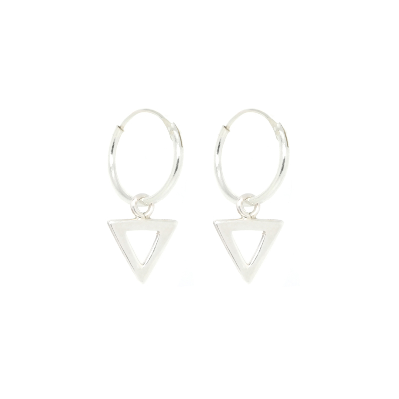 Triangle Hoops | Oorringetjes Driehoek - 925 Zilver