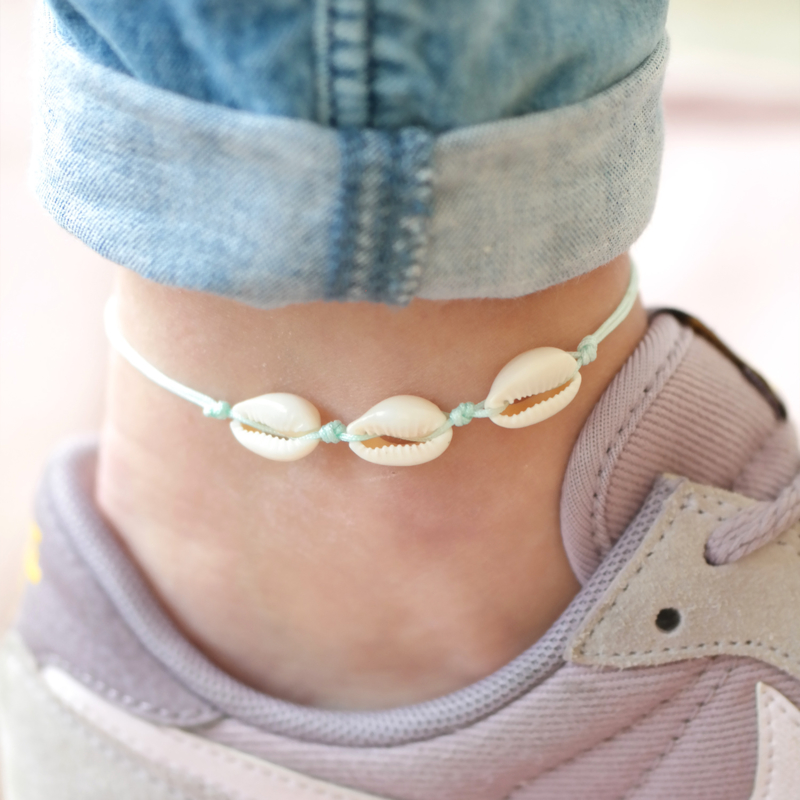 Beach Shells Anklet | Enkelbandje Schelpen - Custom Colors!