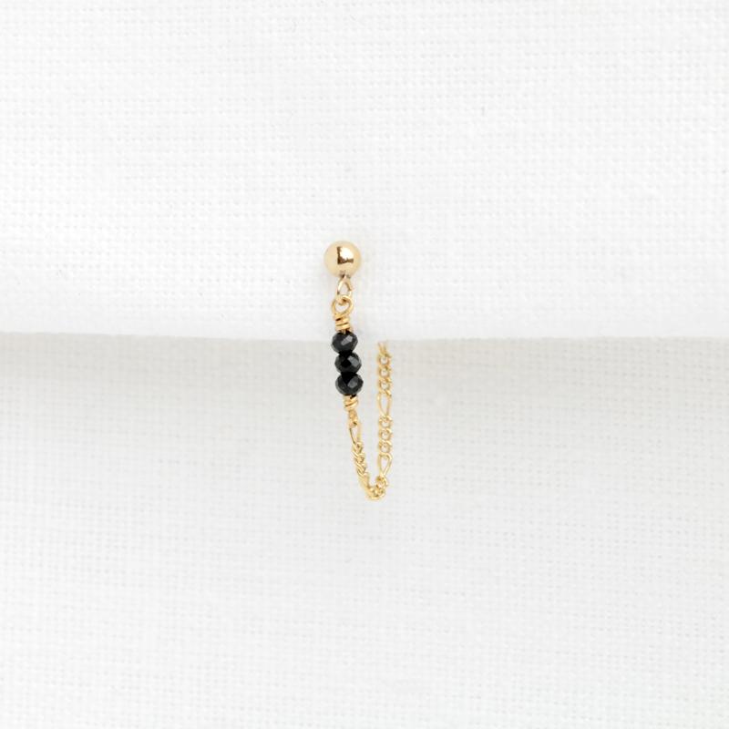 Spinel Chain Stud | Oorknopje Spinel - 14K Gold Filled