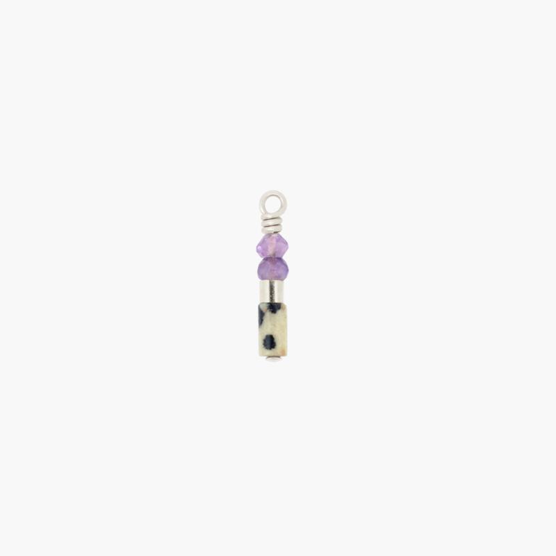 Amethist Jaspis Oorbel Hanger | 925 Zilver