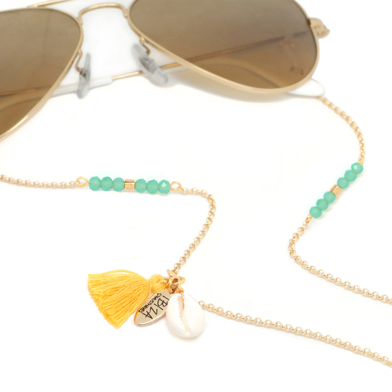 Sunny Chain Vibes - Goud & Zilver | Zonnebrilketting