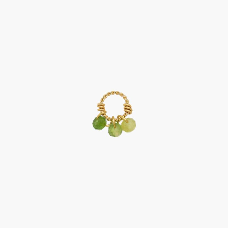 Groene Toermalijn Oorbel Hanger | 14K Gold Filled