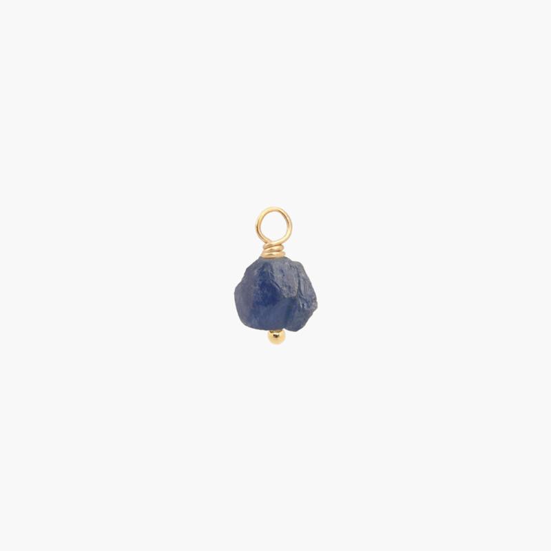 Blauwe Saffier Oorbel Hanger | 14K Gold Filled