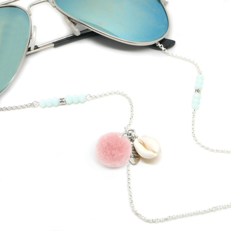 Sunny Chain PomPom - Goud & Zilver | Zonnebrilketting