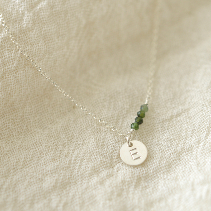 Birth Stone Initial - Divers | Ketting - 925 Zilver
