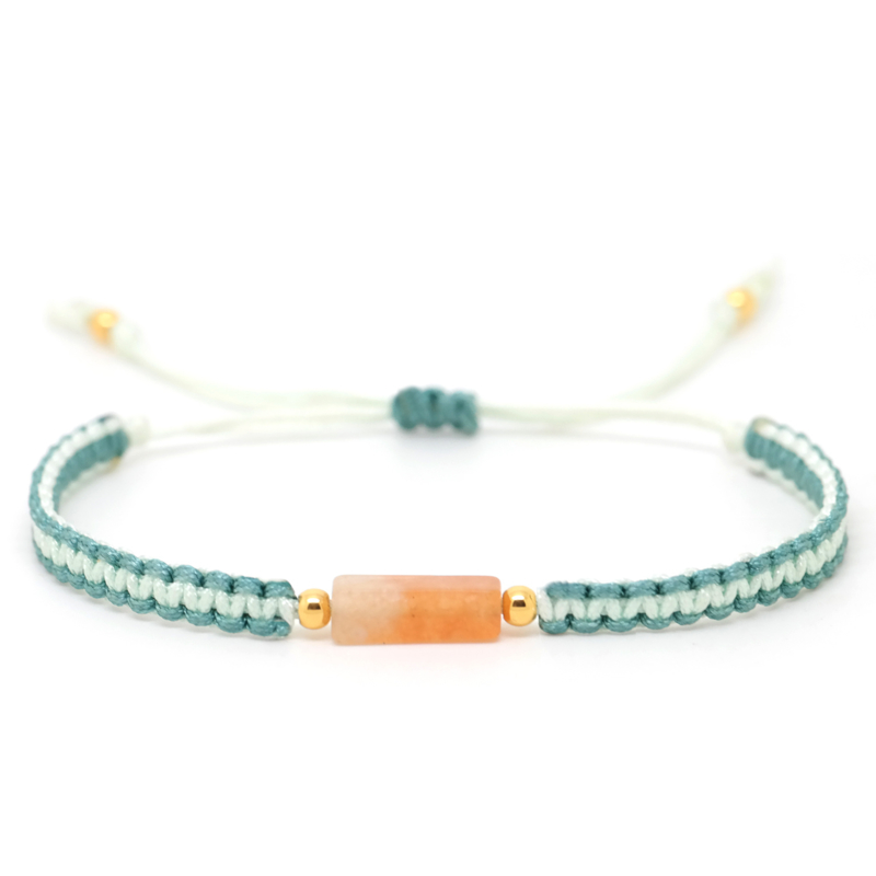 The Gem Orange Aventurine | Aventurijn Macrame Armbandje