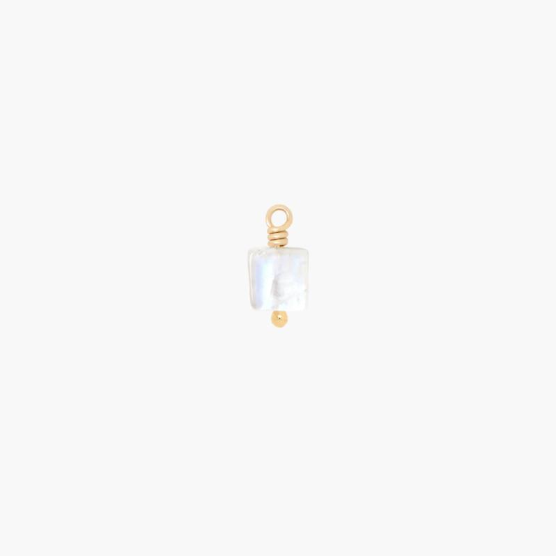 Regenboog Maansteen Oorbel Bedeltje | 14K Gold Filled