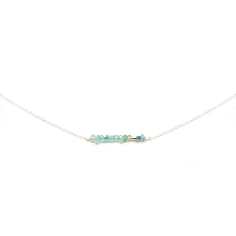 Blissfull Gem - Aquamarijn | Ketting 925 Sterling Zilver