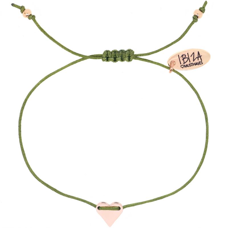 LOVE | Armbandje Hartje - Rosé, Goud & Zilver