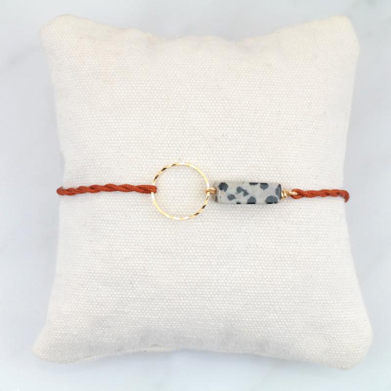 Blossom Dalmatian Jasper   Dalmatier Jaspis Cirkel Armbandje