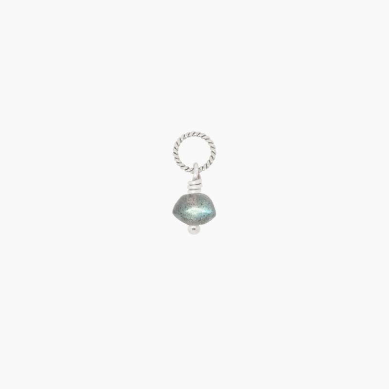 Labradoriet Disc Ketting Bedel | 925 Zilver