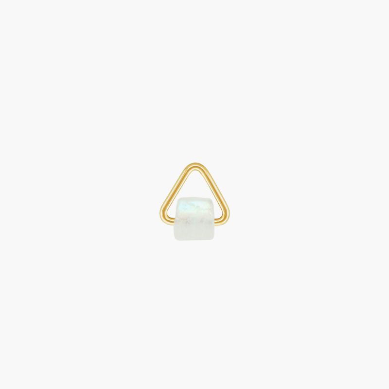 Regenboog Maansteen Triangle Oorbel Hanger | 14K Gold Filled