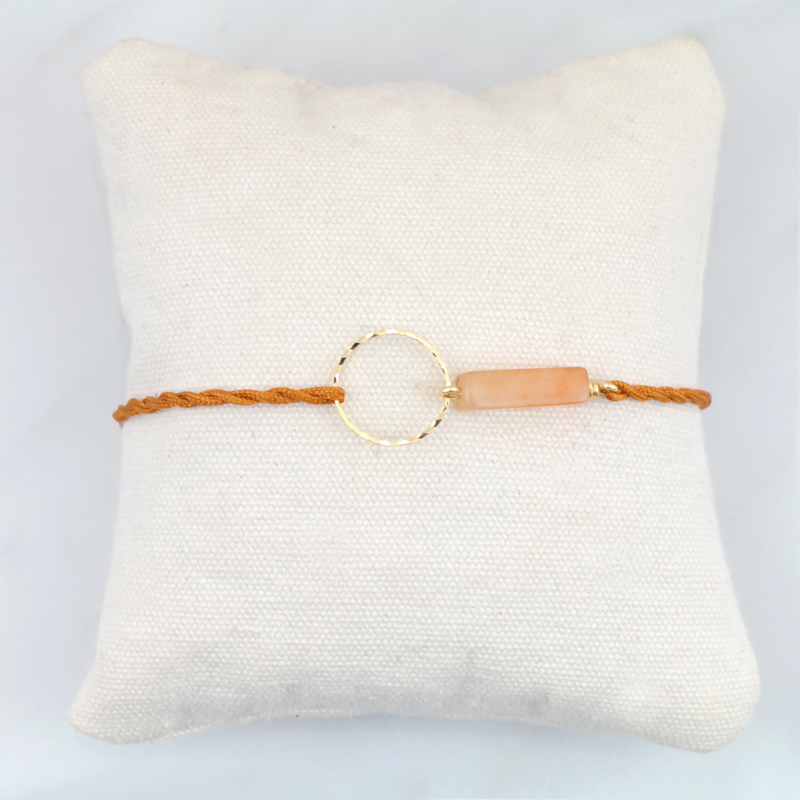 Blossom Orange Aventurine | Aventurijn Cirkel Armbandje