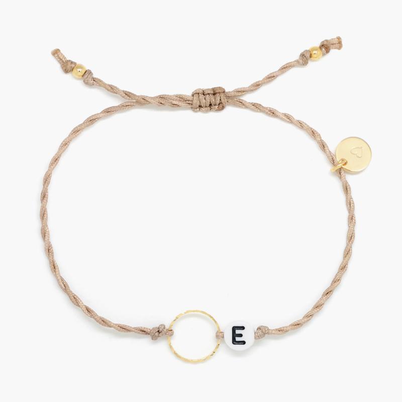 Blossom Initial | Cirkel Letter Armbandje